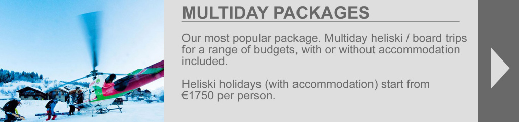 Multiday packages tab