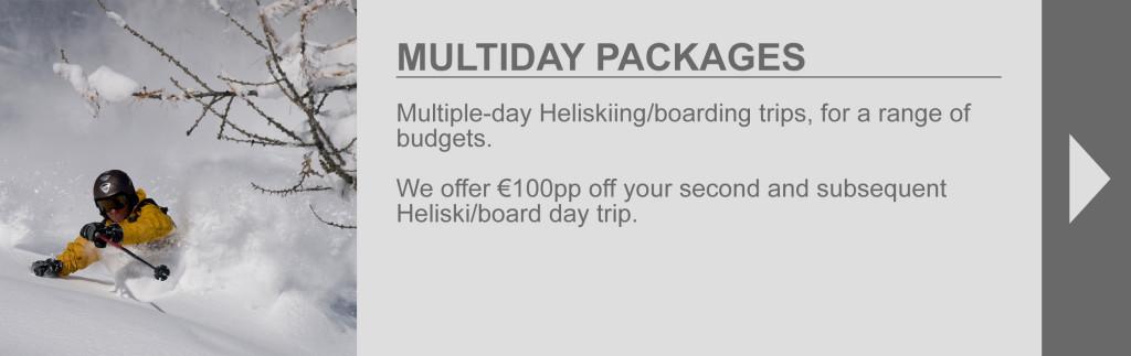 Multiday packages tab