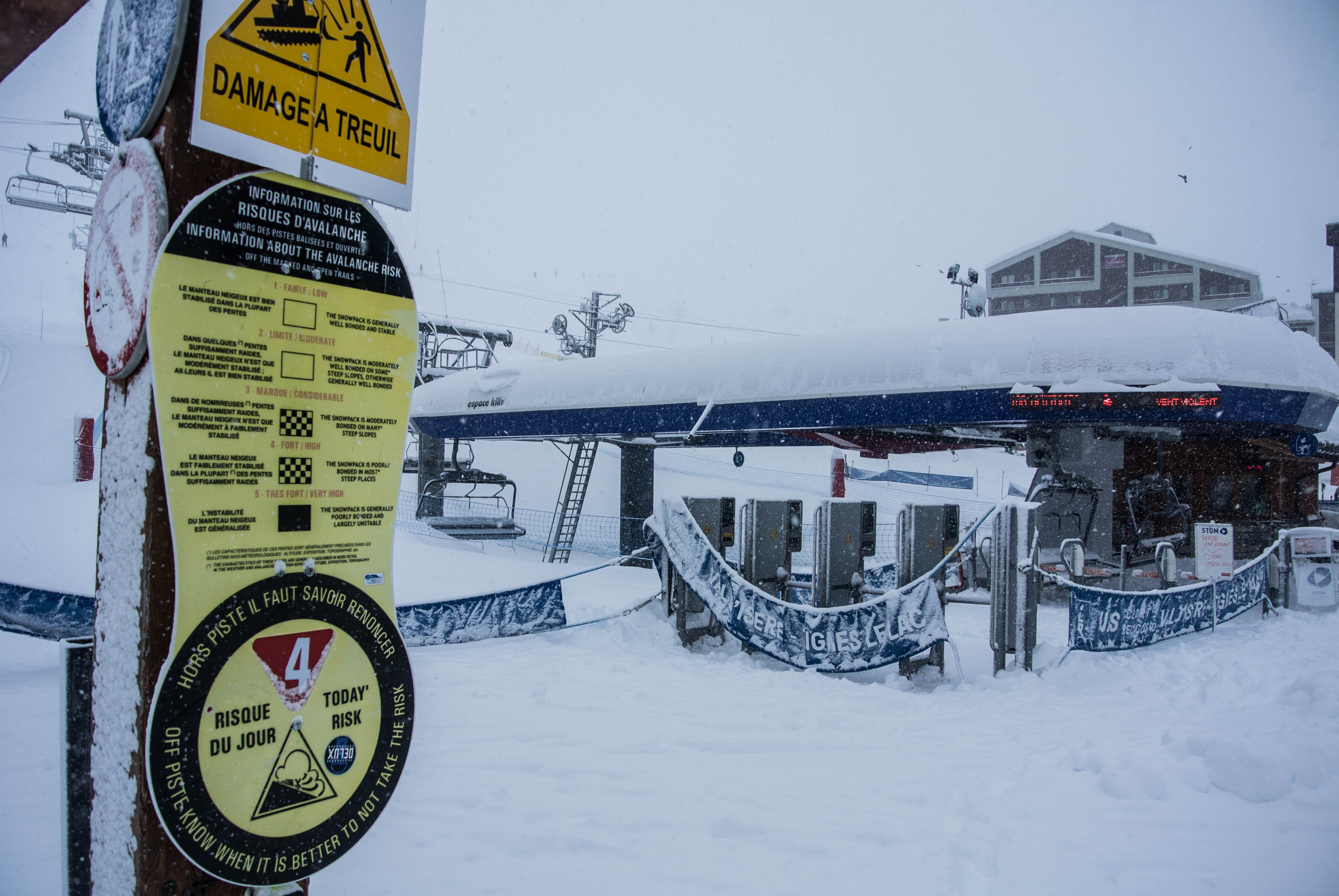 Avalanche forecast is high with all this fresh snow
